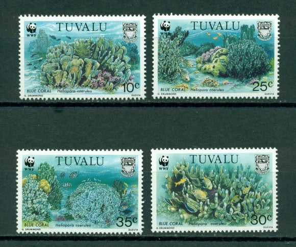 Tuvalu Scott #617-620 MNH World Wildlife Fund FAUNA CV$10+