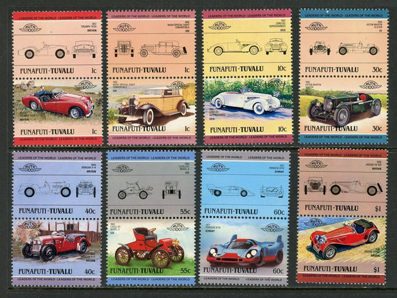 Tuvalu-Funafuti Scott #26//38 MNH Cars Automobiles Assortment $$