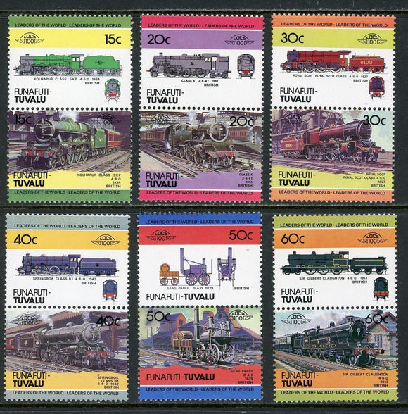 Tuvalu-Funafuti Scott #3//19 MNH Locomotives Trains Assortment $$