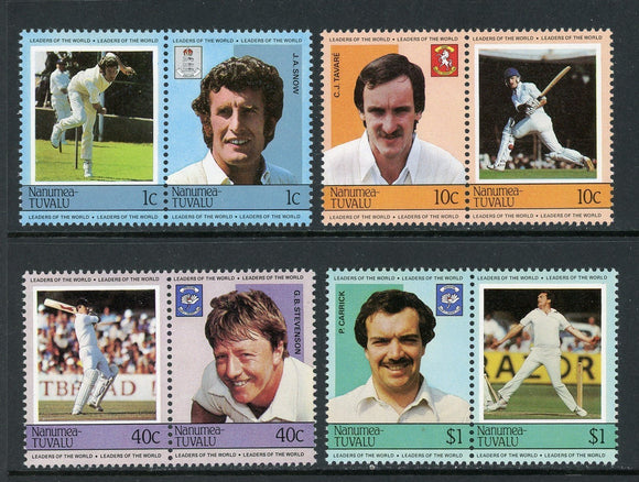 Tuvalu-Nanumea Scott #11-14 MNH Cricket Players SPORTS CV$3+