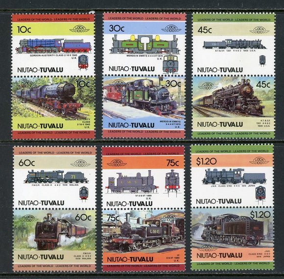 Tuvalu-Niutao Scott #11//20 MNH Locomotives Trains Assortment $$