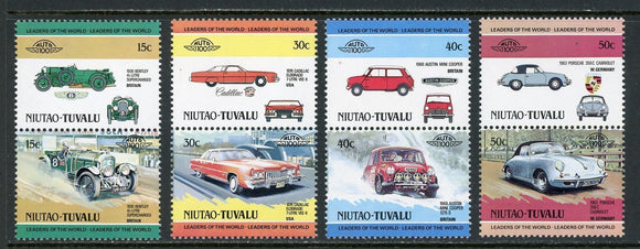 Tuvalu-Niutao Scott #1//7 MNH Cars Automobiles Assortment $$