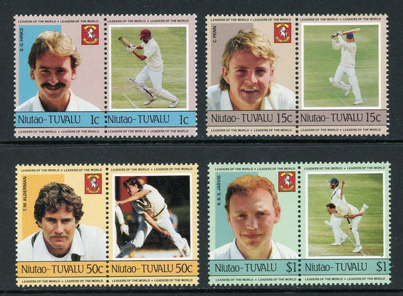 Tuvalu-Niutao Scott #21-24 MNH Cricket Players SPORTS CV$5+