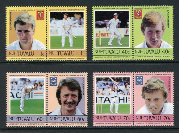 Tuvalu-Nui Scott #41-44 MNH Cricket Players SPORTS CV$3+