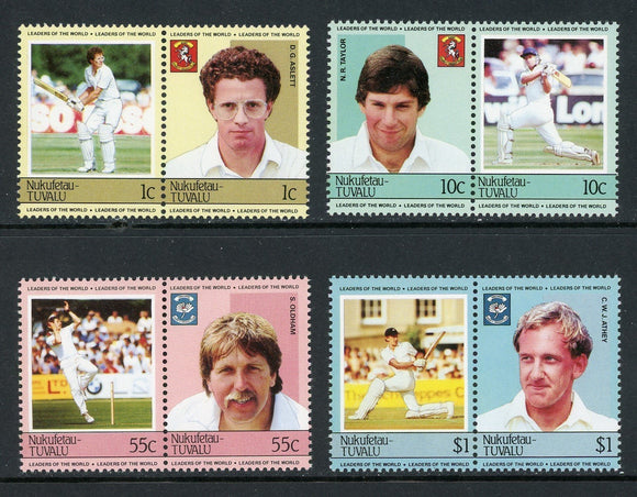 Tuvalu-Nukufetau Scott #20-23 MNH Cricket Players SPORTS CV$3+