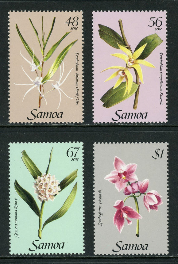 Samoa Scott #637-640 Orchids Flowers FLORA $$