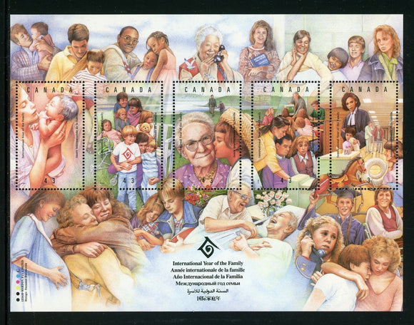 Canada Scott #1523 MNH S/S Int'l Year of the Family CV$3+