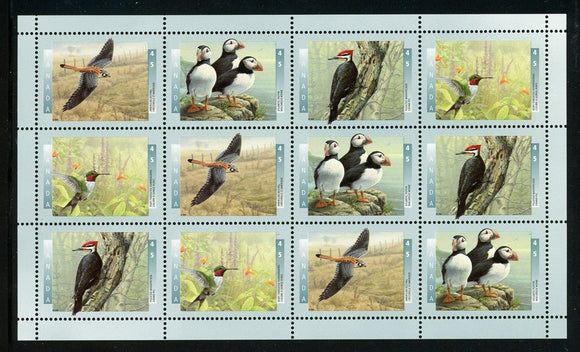 Canada Note after Scott #1594a MNH PANE Birds FAUNA CV$9+