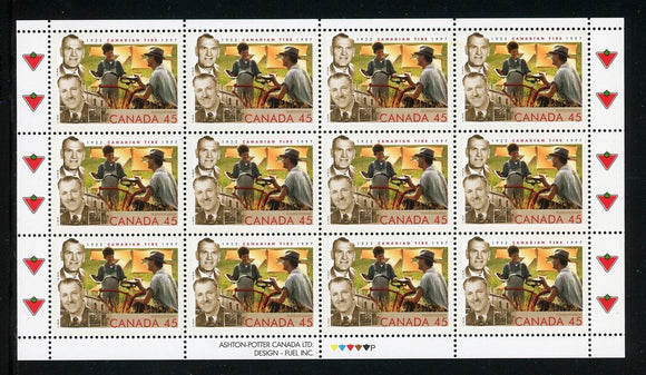 Canada Scott #1636 MNH SHEET Canadian Tire 75th ANN CV$9+