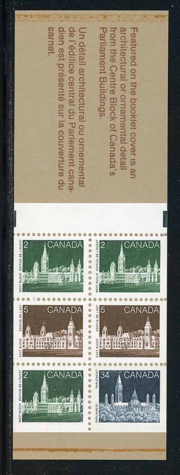 Canada Scott #947a MNH BOOKLETS COMPLETE Parliament 34c+ (2 COVER DESIGNS) $$