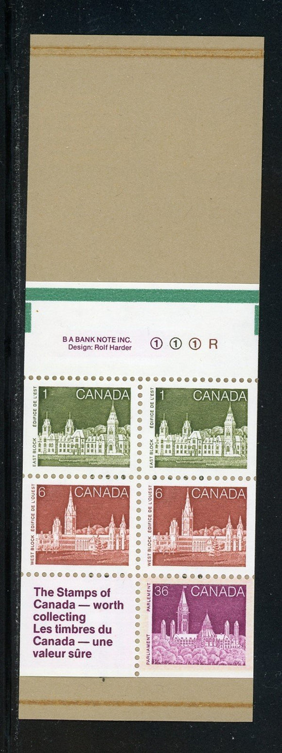 Canada Scott #948a MNH BOOKLETS COMPLETE Parliament 36c+ (10 COVER DESIGNS) $$