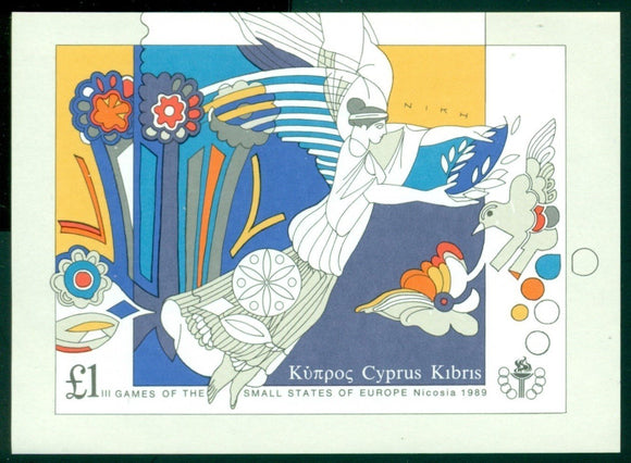 Cyprus Scott #721 MNH S/S Games of Small States of Europe SPORTS CV$7+