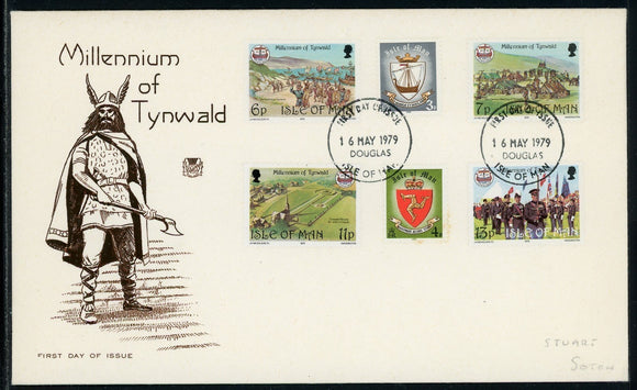 Isle of Man Scott #146-151 FIRST DAY COVER Millennium of Tynwald Council $$