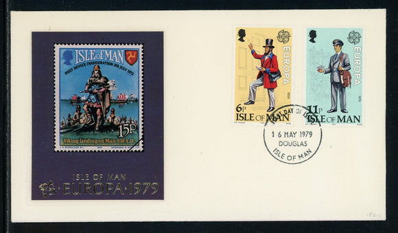 Isle of Man Scott #152-153 FIRST DAY COVER Europa 1979 Post Delivery $$