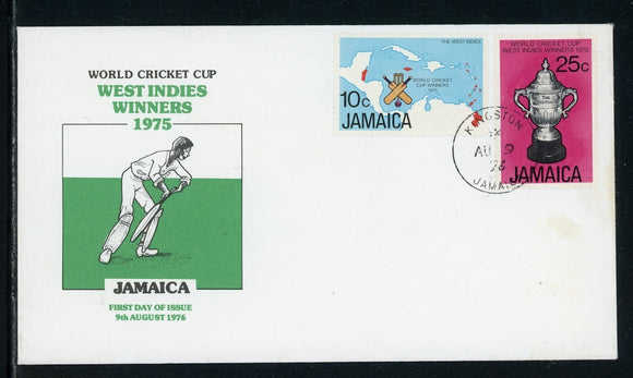 Jamaica Scott #414-415 FIRST DAY COVER World Cricket Cup SPORTS $$