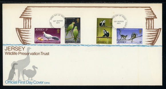 Jersey Scott #49-52 FIRST DAY COVER Wildlife Preservation FAUNA $$