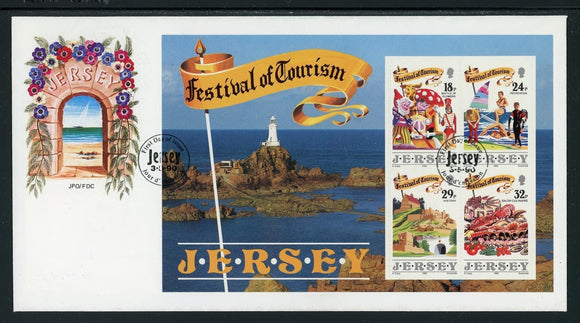 Jersey Scott #539a FIRST DAY COVER Festival of Tourism $$
