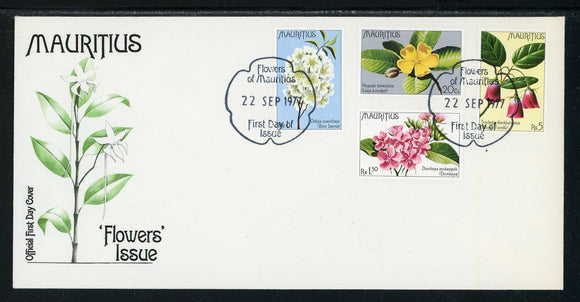 Mauritius Scott #436-439 FIRST DAY COVER Flowers FLORA $$