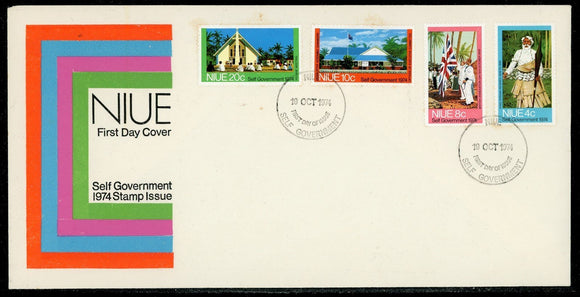 Niue Scott #167-170 FIRST DAY COVER Self Government $$