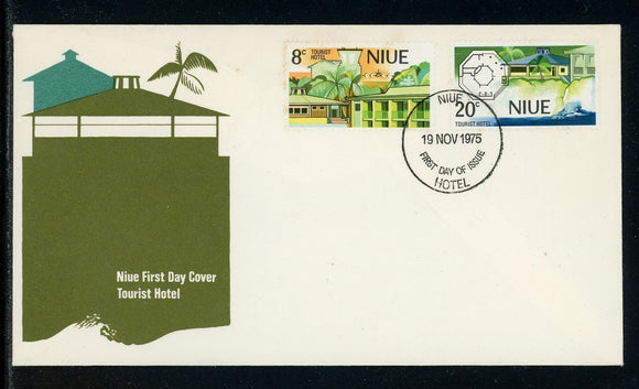 NIue Scott #177-178 FIRST DAY COVER Tourist Hotel $$