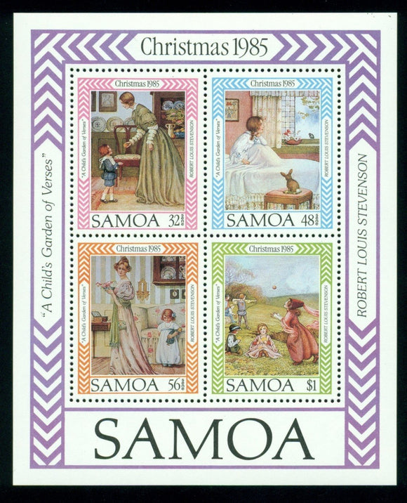 Samoa Scott #659a MNH S/S Christmas 1985 ART CV$2+