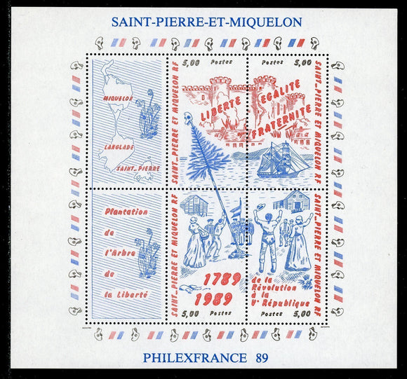 St. Pierre & Miquelon Scott #517 MNH S/S French Revolution PHILEXFRANCE CV$10+