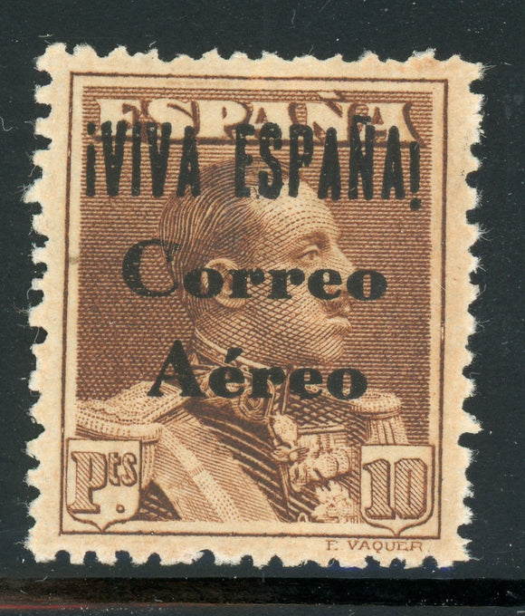 Spain (BURGOS) Air Post MVLH: Scott #7LC27 10P Brown 13mm OVPT CRITIKIAN CV$82+