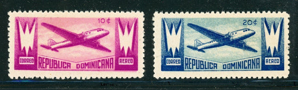 Dominican Republic MNH: Scott #C43-C44 Air Post Issue 1943 $$