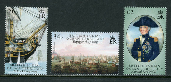 BIOT Scott #313-315 MNH Battle of Trafalgar Bicentenary CV$13+