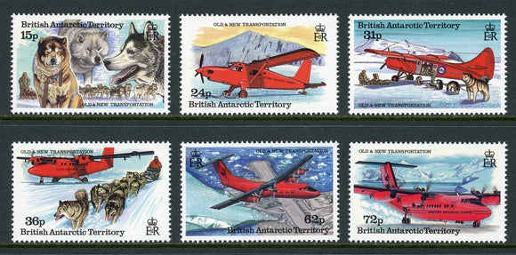 British Antarctic Territory Scott #218-223 MNH Dogs Aircraft CV$14+