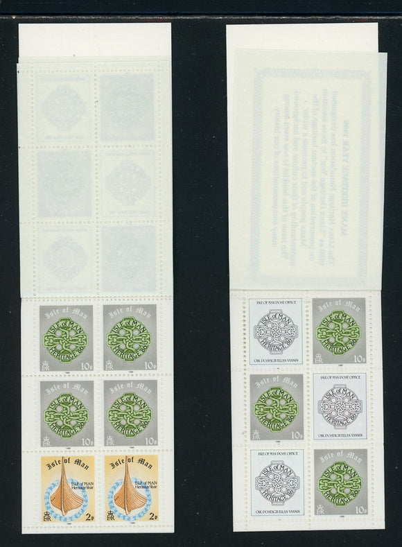 Isle of Man Scott #313 MNH BOOKLETS COMPLETE Manx Heritage '86 CV$14+