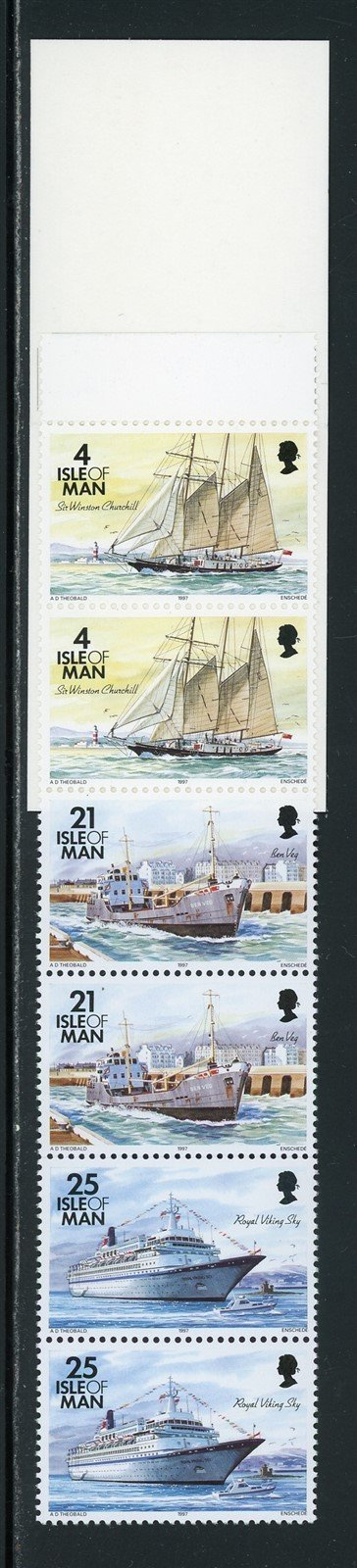 Isle of Man Scott #548a MNH BOOKLET COMPLETE IOM Ships CV$4+