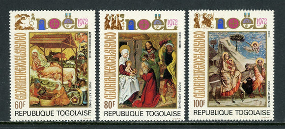 Togo Scott #C191-C193 MNH Christmas 1972 ART CV$3+