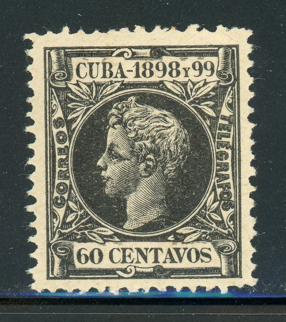 Cuba MLH Selections: Scott #172 60c Black King Alfonso XIII (1898) CV$10+