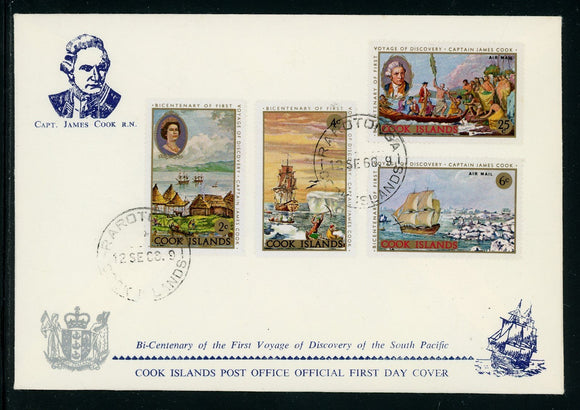 Cook Islands Scott #236//C15 FIRST DAY COVER Cook's 1st Voyage Bicentenary $$