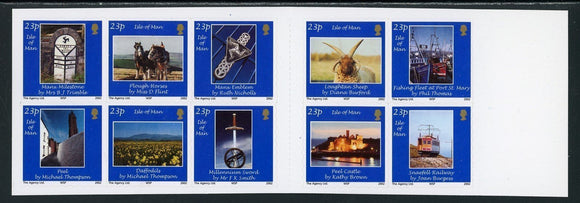 Isle of Man Scott #969 SA BOOKLET COMPLETE Photos of Local Scenes 23p CV$16+