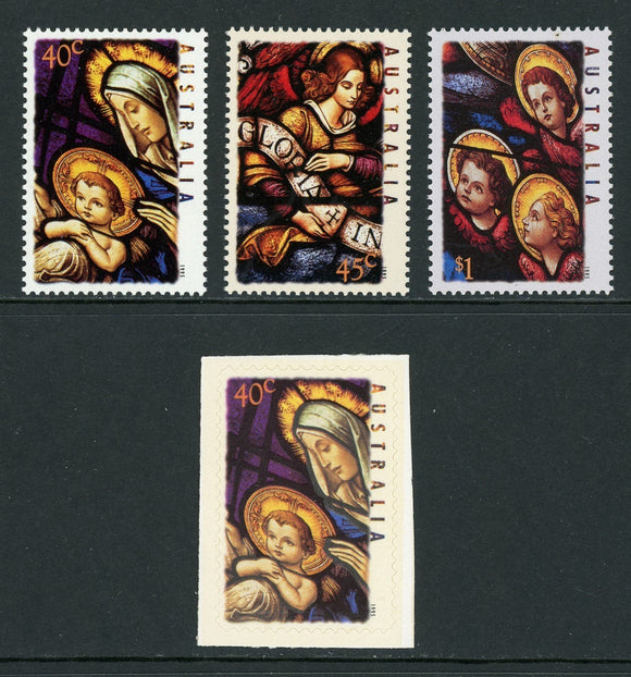 Australia Scott #1472-1475 MNH Christmas 1995 ART CV$4+