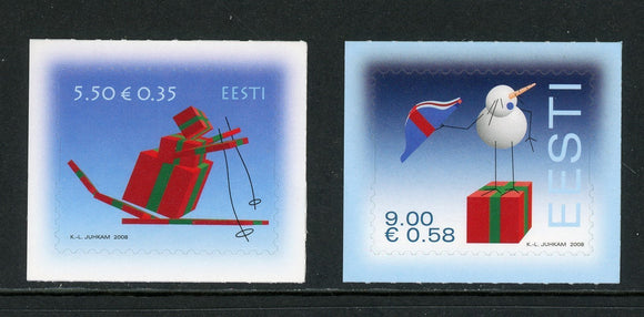 Estonia Scott #608-609 SA Christmas 2008 CV$2+