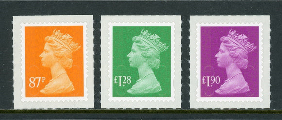 Great Britain Scott #MH416-MH418 SA Machins OVPT