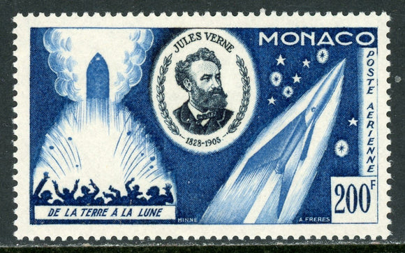 Monaco Scott #C45 MNH From the Earth to the Moon Jules Verne SPACE CV$25+