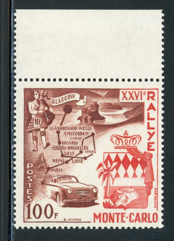 MONACO MNH: Scott #365 Monte Carlo Auto Rally 26th Ann CV$20+