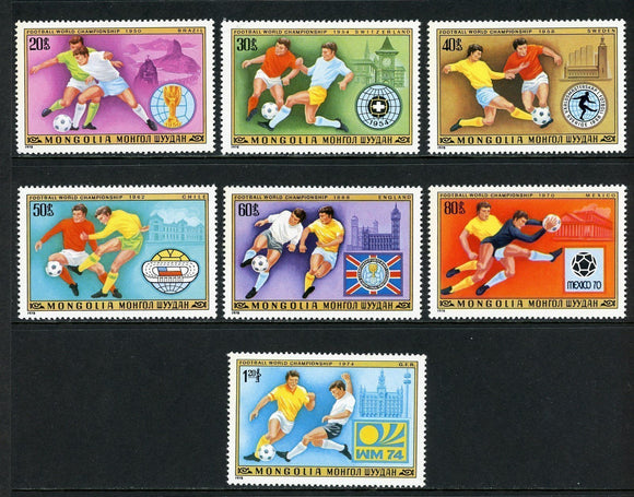 Mongolia Scott #1012-1018 MNH WORLD CUP 1978 Argentina Soccer Football CV$3+