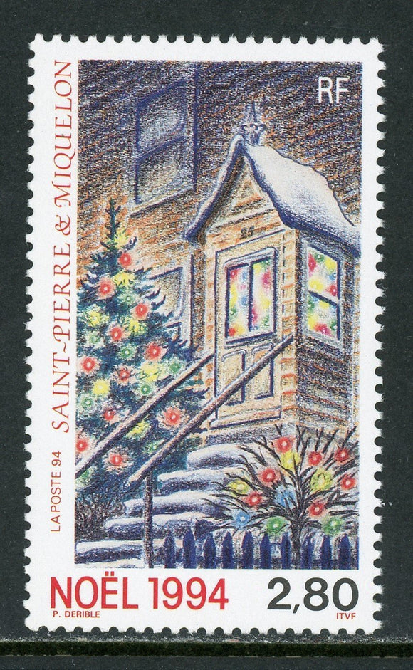 St. Pierre & Miquelon Scott #609 MNH Christmas 1994 Art $$