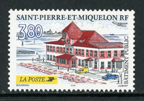 St. Pierre & Miquelon Scott #657 MNH Post Office Building $$