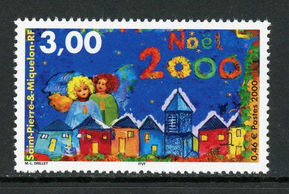 St. Pierre & Miquelon Scott #700 MNH Christmas 2000 Art $$