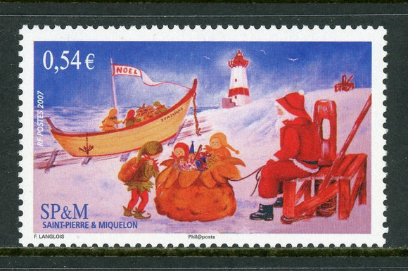 St. Pierre & Miquelon Scott #851 MNH Christmas 2007 $$