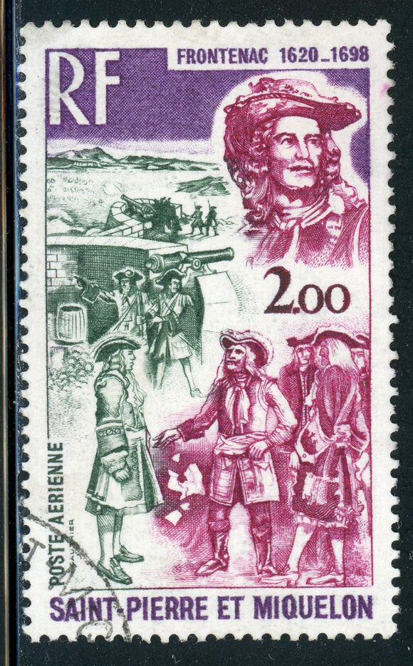 St. Pierre & Miquelon Used: Scott #C52 Frontenac Cannon CV$6+
