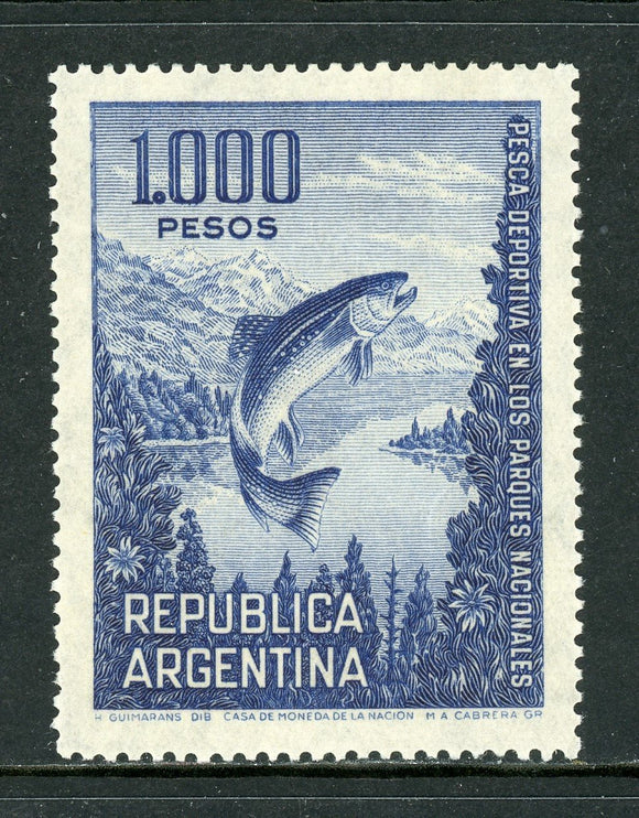 Argentina Scott #829A MNH Trout Fishing in National Parks FAUNA CV$7+