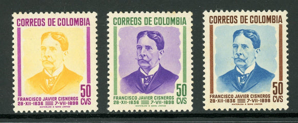 Colombia Scott #577-579 MNH Francisco Javier Cisneros CV$3+