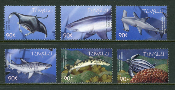Tuvalu Scott #821a-f MNH Marine Life FAUNA CV$7+ os1   *SEE DESCRIPTION BELOW